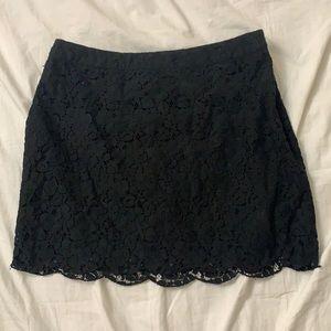 Aritzia - Talula Black Lace Mini Skirt